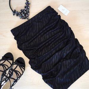 RACHEL Rachel Roy Black Zebra Print Top Size S NWT